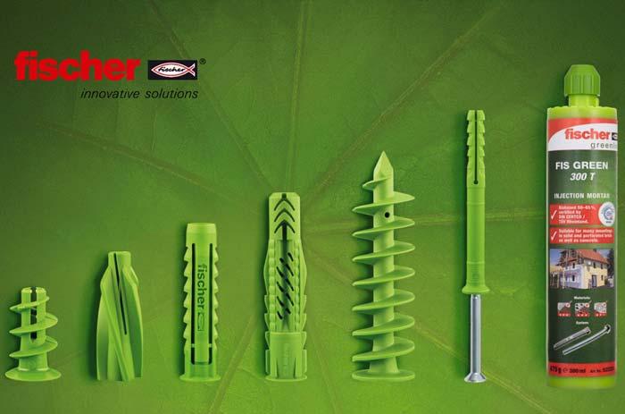 Fischer GreenLine крепеж дюбели UX Green SX GK N GB FID инъекционный состав FIS экологичный