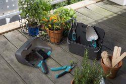 Gardena комплект Домашнее садоводство 1 лопатка мотыжка щетка секатор ящик совок