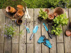 Gardena комплект Домашнее садоводство 2 секатор лопатка совок перчатки садовые