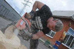 Карвинг бензопила Husqvarna 140 Александр Ивченко резчик резка художественная