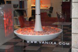 Vanixa Милан Италия шоу рум мебель эмоциональная тлеющих углей эффект огонь фальш камин