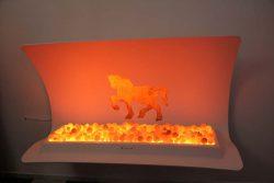 Vanixa мебель эмоциональная огонь угли тлеющие эффект конь Леонардо да Винчи золото золотой лошадь фальш камин