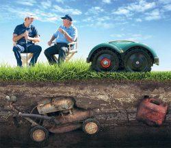 робот газонокосика газон стрижка посев уход