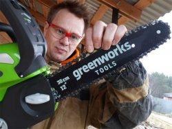 отзывы Гринворкс пила снегоуборщик тест Greenworks