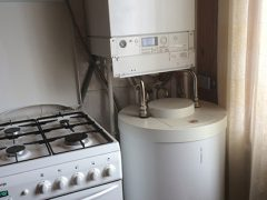 котел Viessmann Vitodens 200‑W WB2B и водонагреватель Vitocell 100‑W
