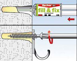 Fischer Fill&Fix анкер химический состав поврежденное отверстие