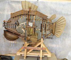 ArtMechanicus com кинетическая скульптура железная рыба