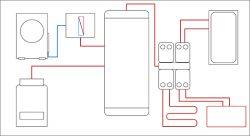 Отопление воздушным тепловым насосом и газовым котлом (рис. 4)