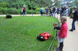 Husqvarna Automower 310 робот газонокосилка Аптекарский огород Ботанический сад МГУ