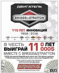 Briggs Stratton розыгрыш призов