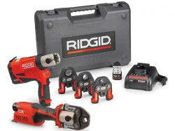Ridgid RP 240 241 пресс инструмент аккумуляторный обжим труб труба