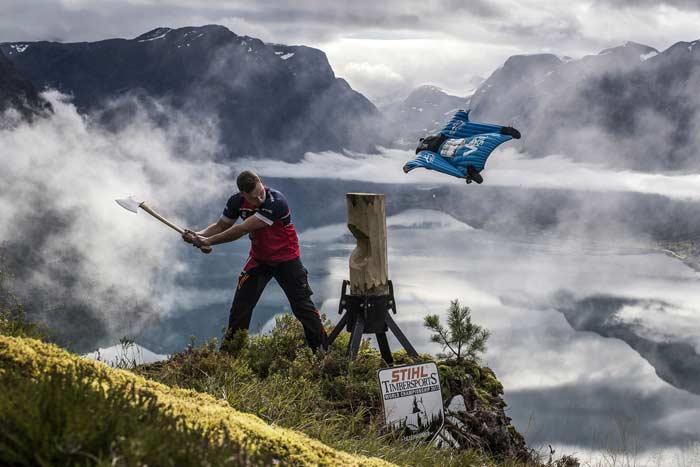 Stihl TimberSports 2017 чемпионат мир спортивная валка лес Норвегия Лиллехаммер ноябрь