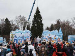 Главную новогоднюю ель Кремлевская елка России 2017 2018 бензопилой Husqvarna 365 торжественная церемония