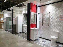 Оби Obi ремоделинг шоу рум ванная комната дизайн интерьер плитка сантехника гипермаркет сеть