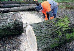 скамья из дерева садовая Husqvarna пила