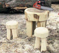 сделать стол табуретки для сада
