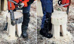 резьба по дереву бензопилой вырезание пилой