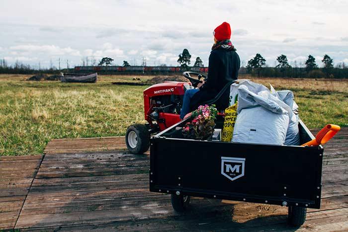 Трактор Митракс Т10 садовый многофункциональный навесное оборудование навеска орудия