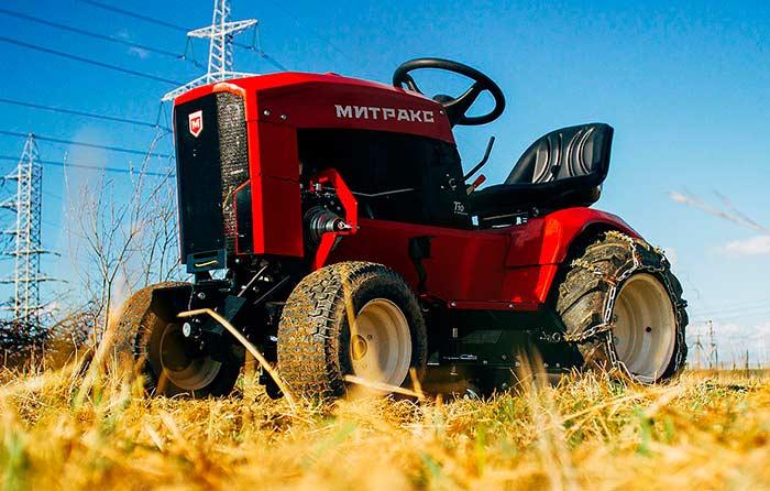 Митракс Т10 трактор садовый многофункциональный Lifan 190FD двигатель мотор