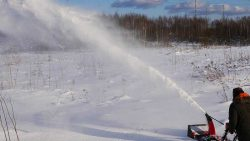 для загородного дома с большой территорией снегоуборщик