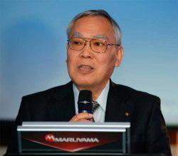 Maruyama Масанобу Огашира Президент Masanobu Ogashira Юнисоо Unisaw конференция 2018 Лидер тренд