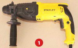 перфоратор Stanley SHR263 в разборе тест