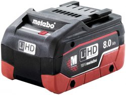 Аккумулятор Metabo Метабо LiHD 8 А ч батарея сильноточная