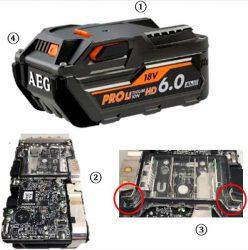 AEG L1890RHD L1860RHD аккумулятор High Demand HD емкость 9 6 А ч батарея