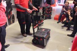 Milwaukee Packout тележка система хранения инструмент оснастка конференция 2018 Копенгаген
