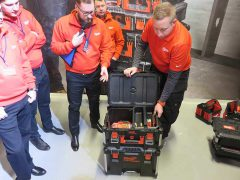 Milwaukee Packout чемодан система хранения инструмент оснастка конференция 2018 Копенгаген