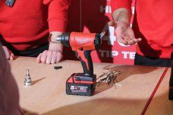 Аккумуляторный технический фен Milwaukee M18 BHG строительный пистолет горяч воздух конференция 2018 Копенгаген