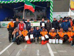 Лесоруб 2018 Татарстан сборная Husqvarna 572XP бензопилы Чемпионат России