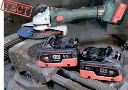 Аккумулятор Metabo LiHD Li Power тест аккумуляторная УШМ Метабо WB 18 LTX BL 180