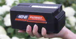аккумулятор 2,5 40 вольт Patriot аккумуляторная система садовой техники