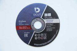 Отрезной абразивный круг Dcut 125·1,0 мм