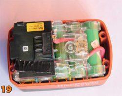 аккумулятор в разборе электронный блок УШМ