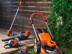 Аккумуляторная садовая техника Oleo Mac новинки 2019 газонокосилка Gi 44P воздуходувка BVi 60 кусторез HCi 45 триммер BCi 30