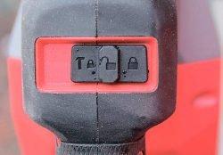 Milwaukee M18 Fuel FHM Милуоки аккумуляторный перфоратор SDS Max 18 В фиксатор включенное положение