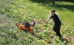 газонокосилка для работы на склонах