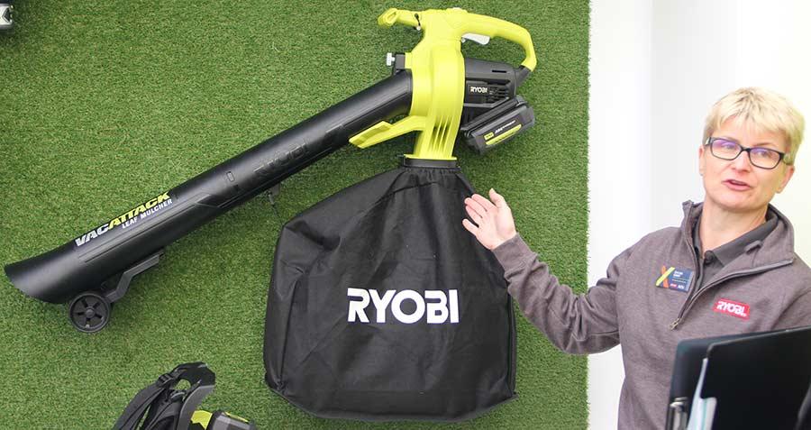 Конференция Ryobi 2019 Лондон RV36 аккумуляторный 36 В садовый пылесос