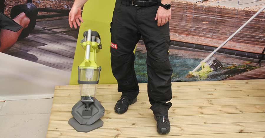 Конференция Ryobi 2019 Лондон R18UVP One+ аккумуляторный 18 В пылесос чистка бассейн