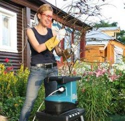 Makita измельчитель садовых веток компост