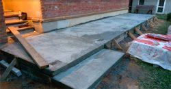 Заливка бетоном утепленного фундамента