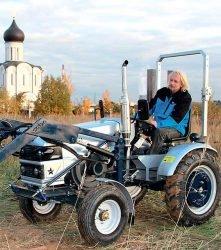 Тест Скаут Т 25 Generation II мини трактор Scout фронтальный погрузчик прицеп