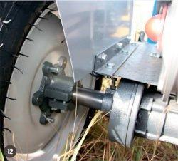 Мини трактор Скаут Т 25 Generation II Scout тормозная система