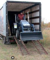 Мини трактор Скаут Т 25 Generation II Scout разгрузка рампы аппарели