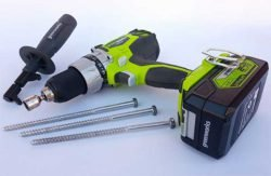 глухари 180 мм шуруповёрт Greenworks GD24BD аккумуляторный