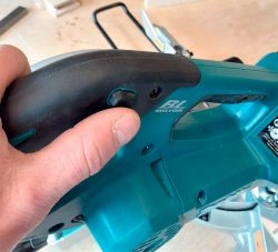 Makita DLS714N аккумуляторная торцовочная пила торцовка Макита симметричная кнопка разблокировки запуска