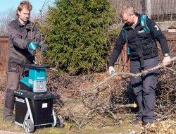 Makita Макита UD2500 измельчитель садовый сетевой тест режущая садовая техника