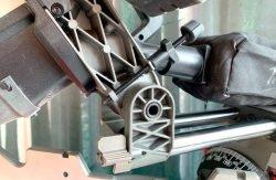 Milwaukee M18 Fuel FMS305 Милуоки аккумуляторная торцовочно усовочная пила тест регулируемый ограничитель глубины